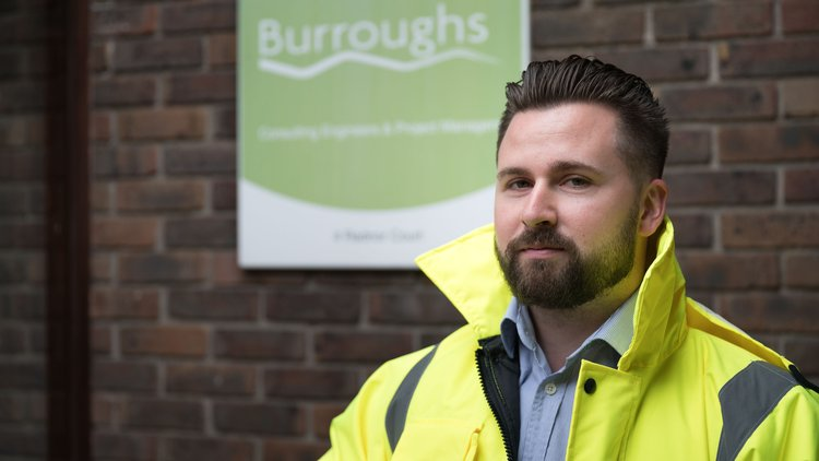 Hugh Jones (web sized pic) - Surveying graduate