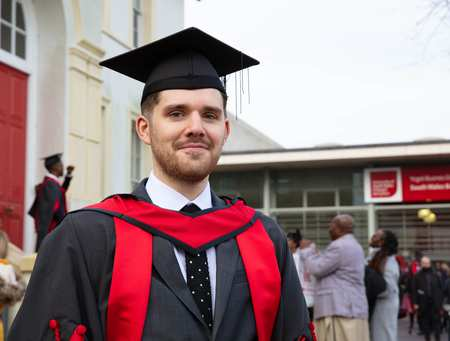 Jake McDonald from Cardiff achieved his MA by Research (History) degree in December 2019.