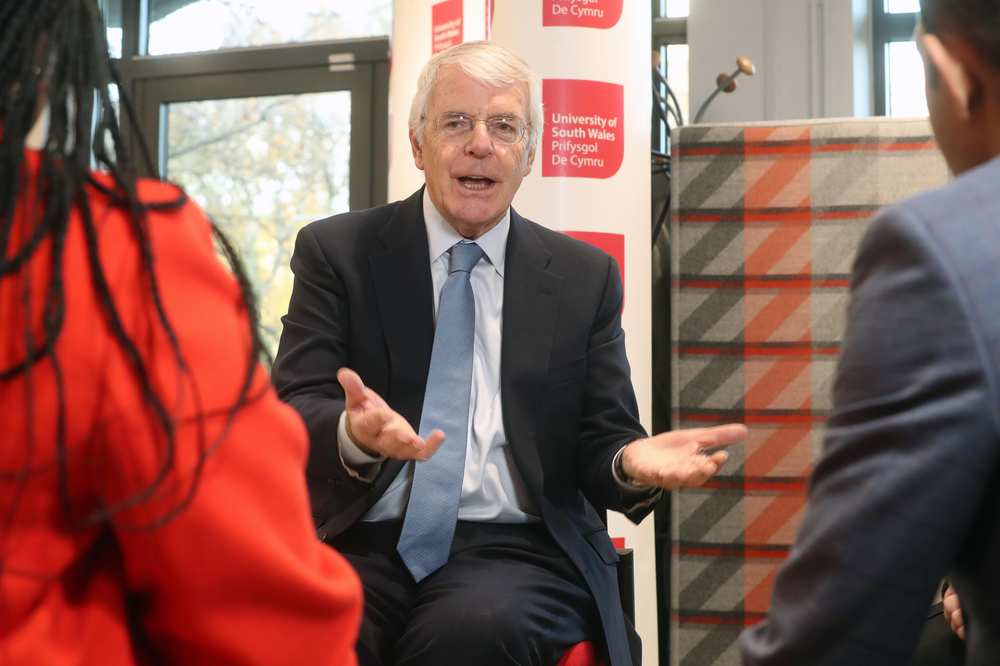 Former Prime Minister Sir John Major visiting USW - November 15, 2018