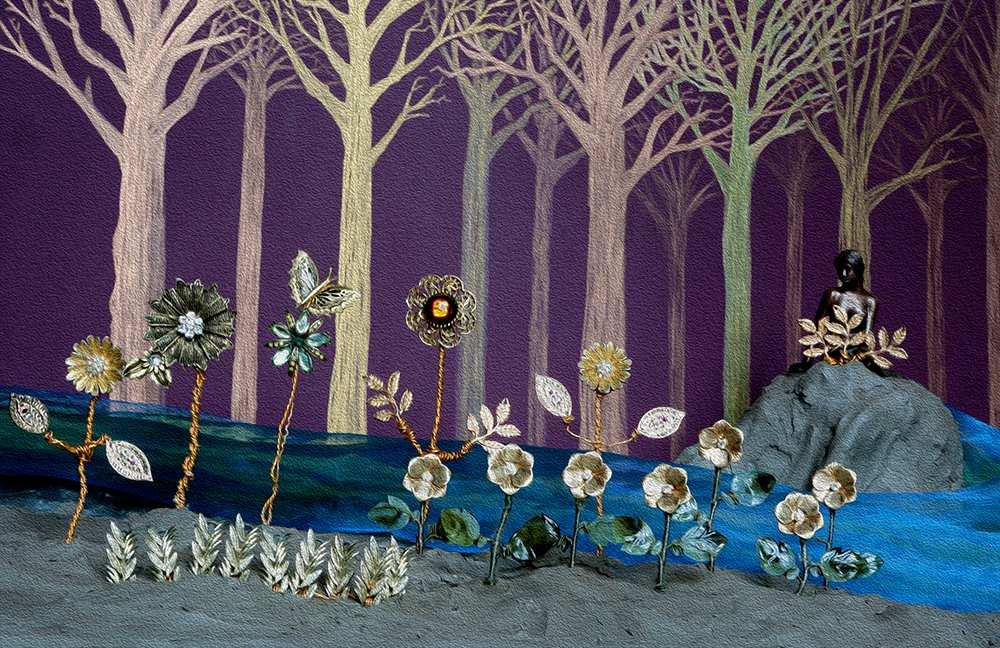 The Golden Garden by Jonathan Denner-Stewert. St Woolos, Newport, Nurture exhibition. May 2017