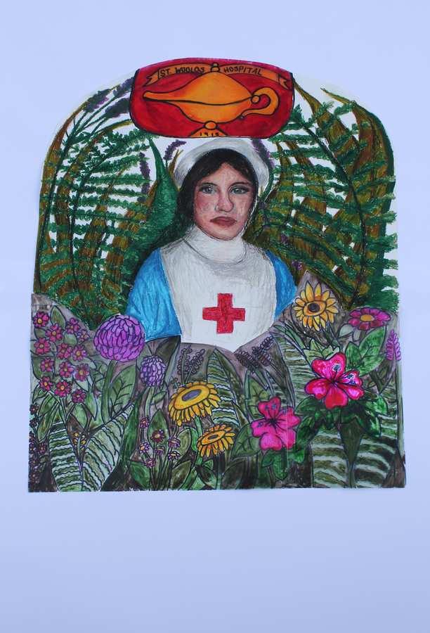 A Nurse's Garden by Lauren Enoch. St Woolos, Newport, Nurture exhibition. Neil Gibson, May 2017