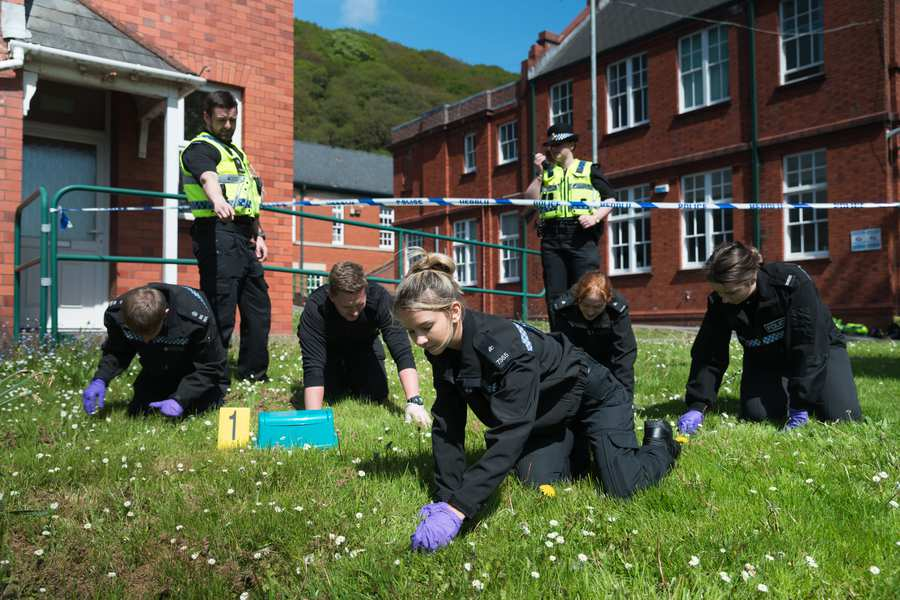 Policing students using the Crime Scene Training Facility