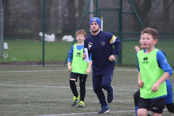 Ryan delivering coaching in schools
