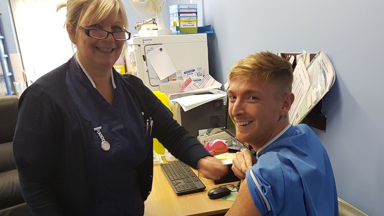 Matthew Tovey is studying the part time nursing degree