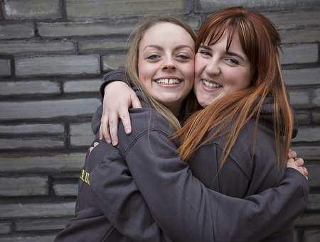 Coleg Cymraeg Ambassadors - Carys Jones and Rebecca Williams