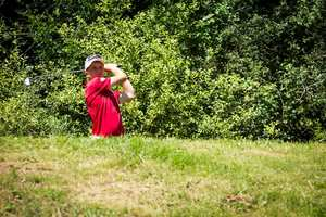 Theo Baker taking part in the 2016 World University Golf Championships, which were held in Brive-La-Gaillarde, France. Neil Gibson