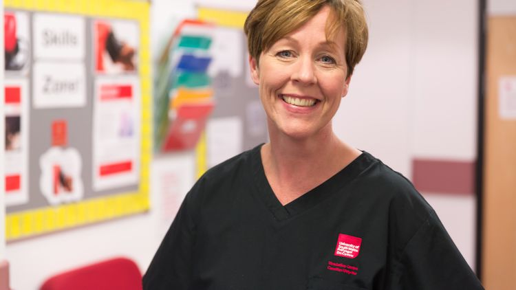 Lynda Civil, nurse and academic lecturer nursing degree