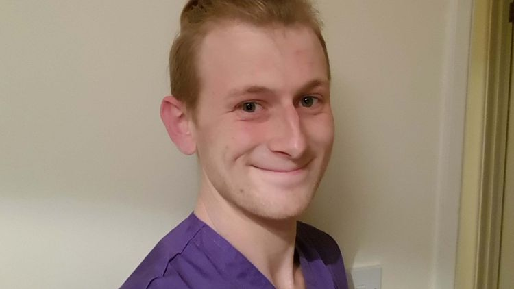 Tom Bartlett from Abergavenny is studying mental health nursing