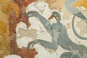 Blue monkey frescoes - Dr Tracie McKinney research