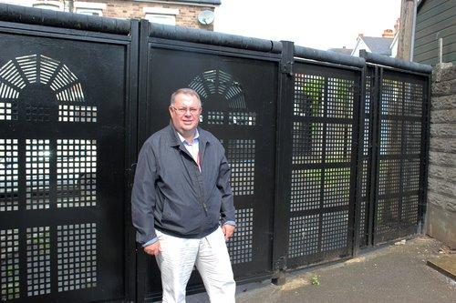 Professor Colin Rogers alley gates Cadoxton