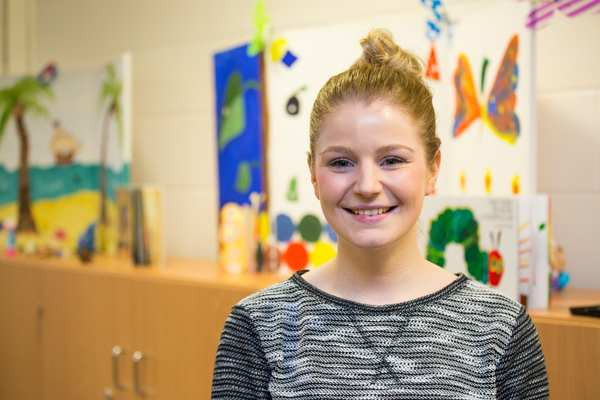 """""""Lots of undergraduate students volunteer here as a way of seeing what behaviour analysis and therapy is like, especially if they are considering a postgraduate course in this area,"""" says Amy, an MSc Behaviour Analysis and Therapy student"""