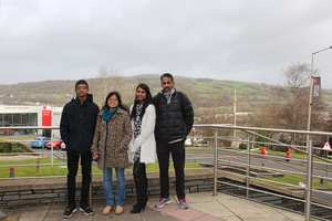 Ananth and family outside