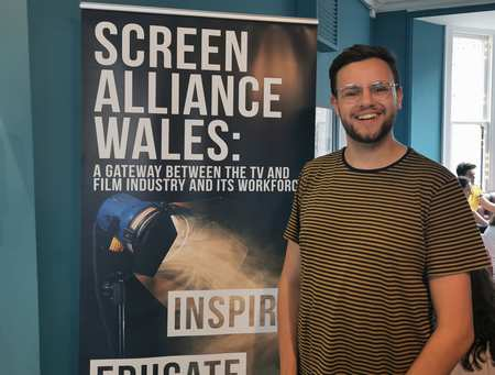 Graduate Andrew Creak, Screen Alliance Wales partnership
