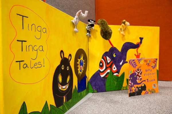 Welcome to the Tinga Tinga corner, based on the popular CBeebies programme. The children love playing here!