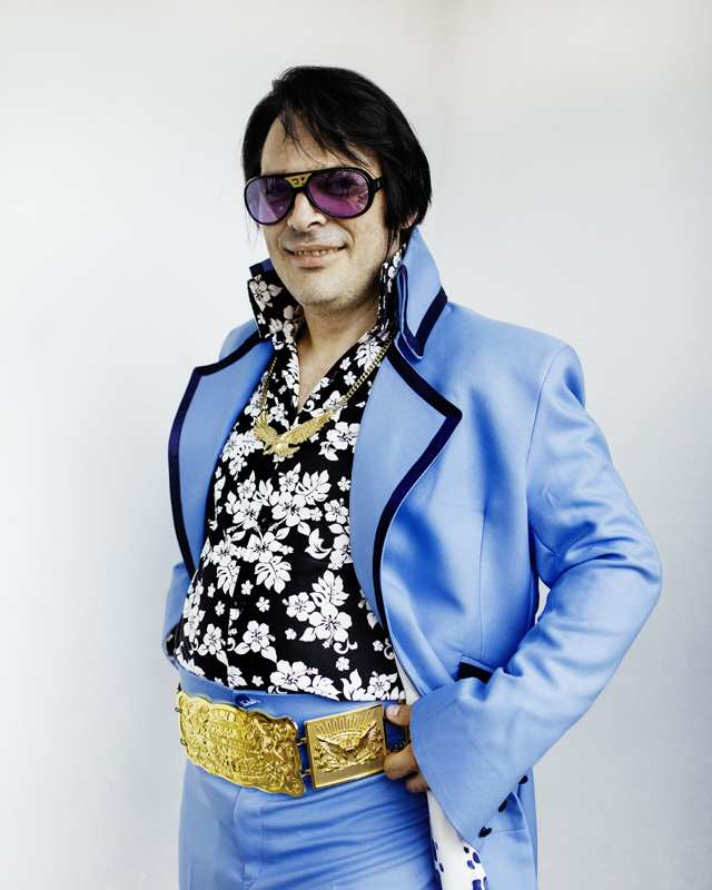 Becky Thomas's image from the Elvis Festival, held annually in South Wales.
