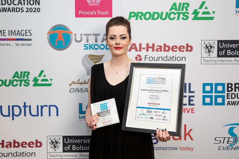 University of South Wales (USW) Masters student Bronnie Griffiths has won a British Education Award. Feb 2019