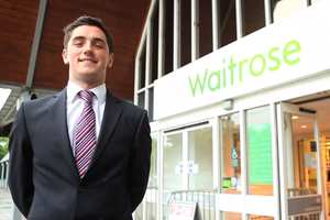 Business student on Waitrose