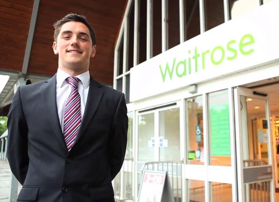 Business student on Waitrose