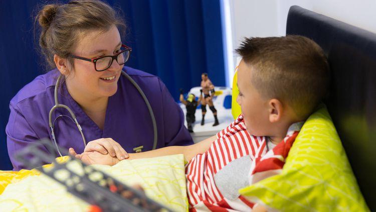 Katie Tarr, Child Nursing degree