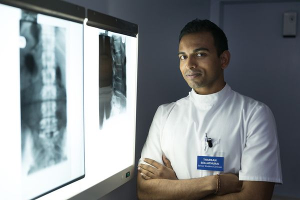 A final year chiropractic student: Reviewing a patient's x-ray images