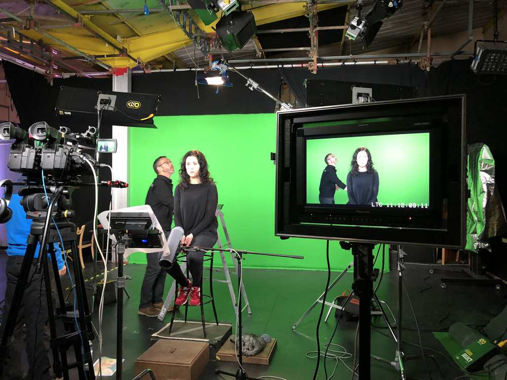 Clwster - Galactig green screen filming