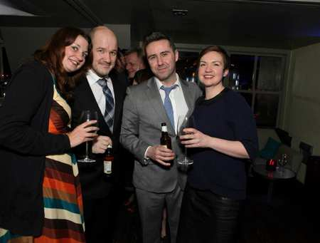 Curious Incident of the Dog In the Night-Time Press night 2013. Frantic Assembly team L-R Inga Hirst, Steven Hoggett, Scott Graham and Lisa Maguire..jpg