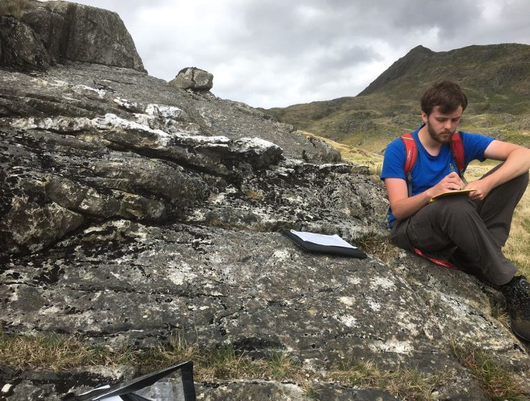 Dafydd Evans, Masters by Research student in Geology
