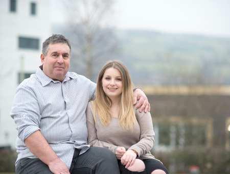 Daisy Peskett and her dad