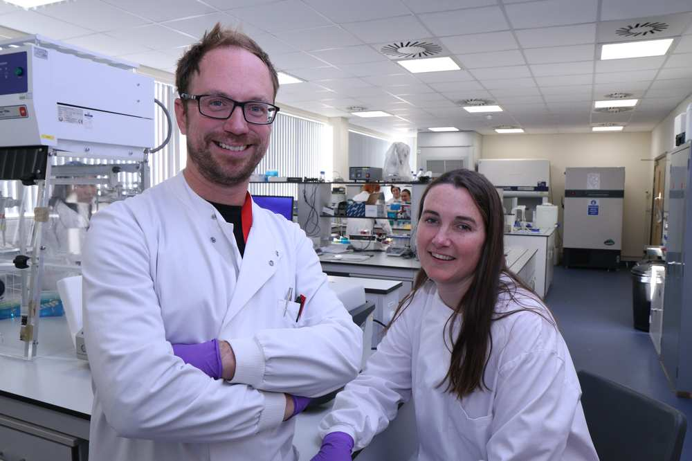 Microbiologist Dr Emma Hayhurst and molecular geneticist Dr Jeroen Nieuwland have formed 123 USW, which is just one of 12 teams from three continents which have been awarded £14k seed funding from the Longitude Prize Discovery Award. Neil Gibson