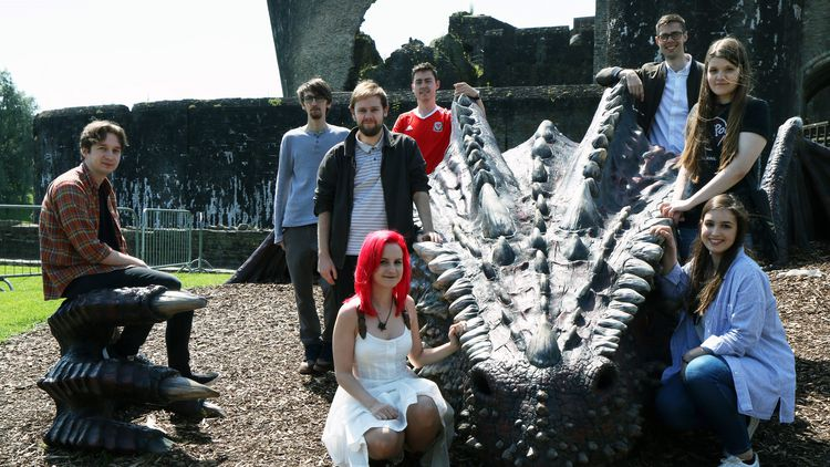 The USW team who worked with Cadw/Equinox Communications to produce an animated dragon to promote welsh castles, and the Wales team's success in Euro 2016.