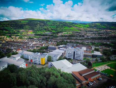 Treforest aerial photo