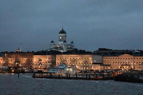 Beautiful Helsinki at dusk