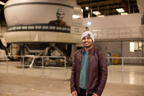 Junayed Hoque, final-year BSc (Hons) Aircraft Maintenance Engineering student