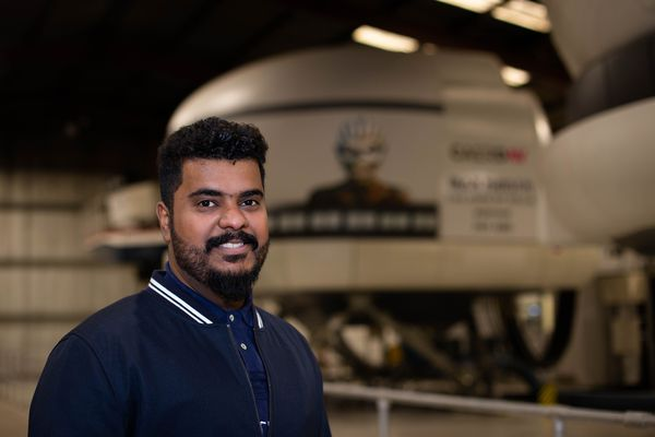 Nasser Al-Aisri, final-year BSc (Hons) Aircraft Maintenance Engineering student