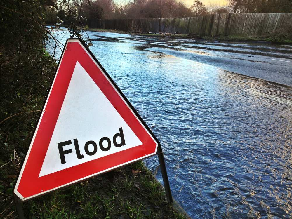 Flood warning sign - Getty