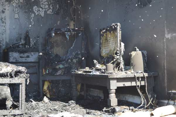 The rate of development and intensity of the fire may suggest the presence of accelerants and there is forensic evidence present that can be collected for laboratory analysis.