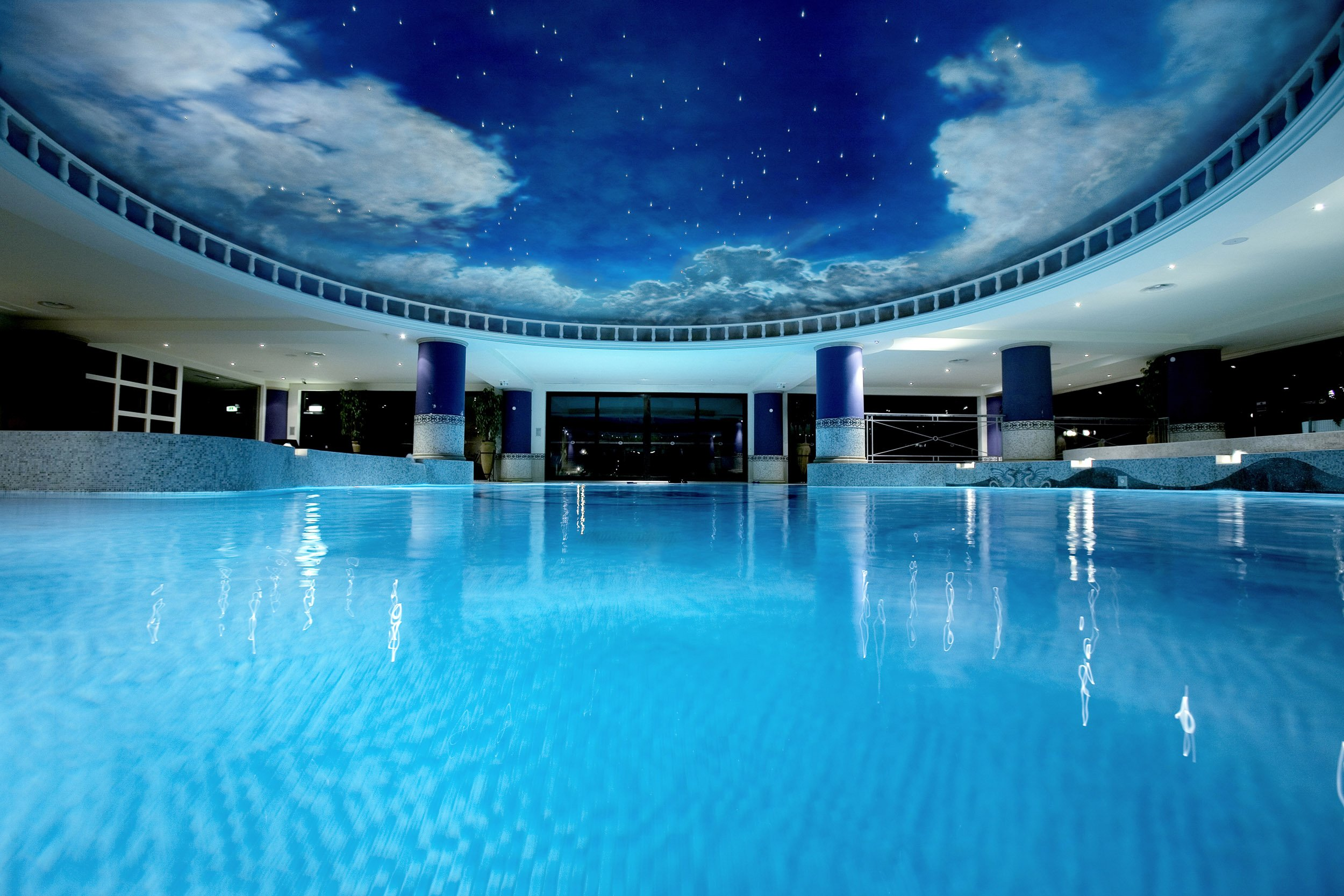 The Forum Pool at the Celtic Manor Resort.