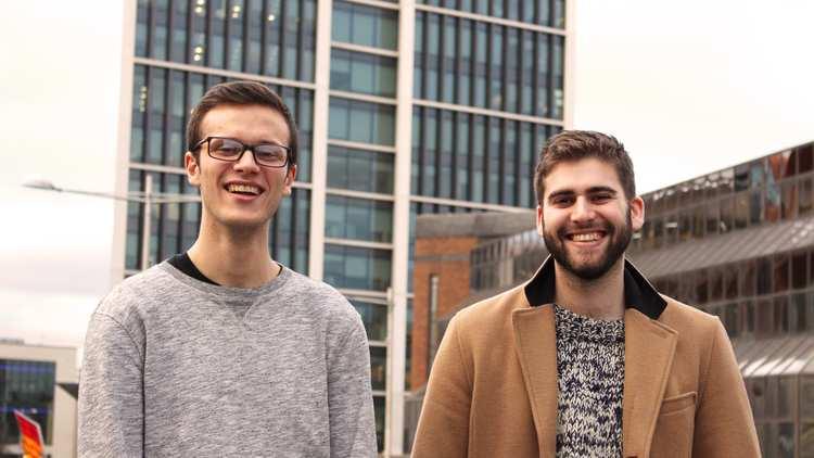 George Soave and Duncan Hallis - MA Drama graduates