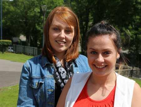 Georgia Gwillim and Gabrielle Jones. Dyspraxia Foundation South East Wales. Neil Gibson, August 2016