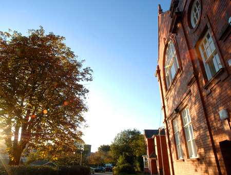 Glyntaff Campus at sunset