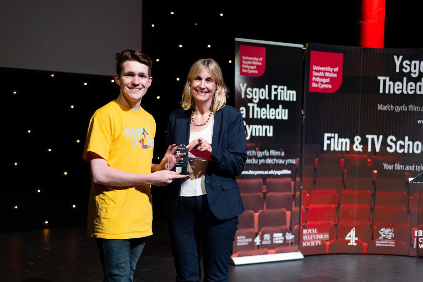 Hedydd Ioan, Rising Star, with Sian Gwynedd, Head of Content Production at BBC Wales. Neil Gibson, July 2019