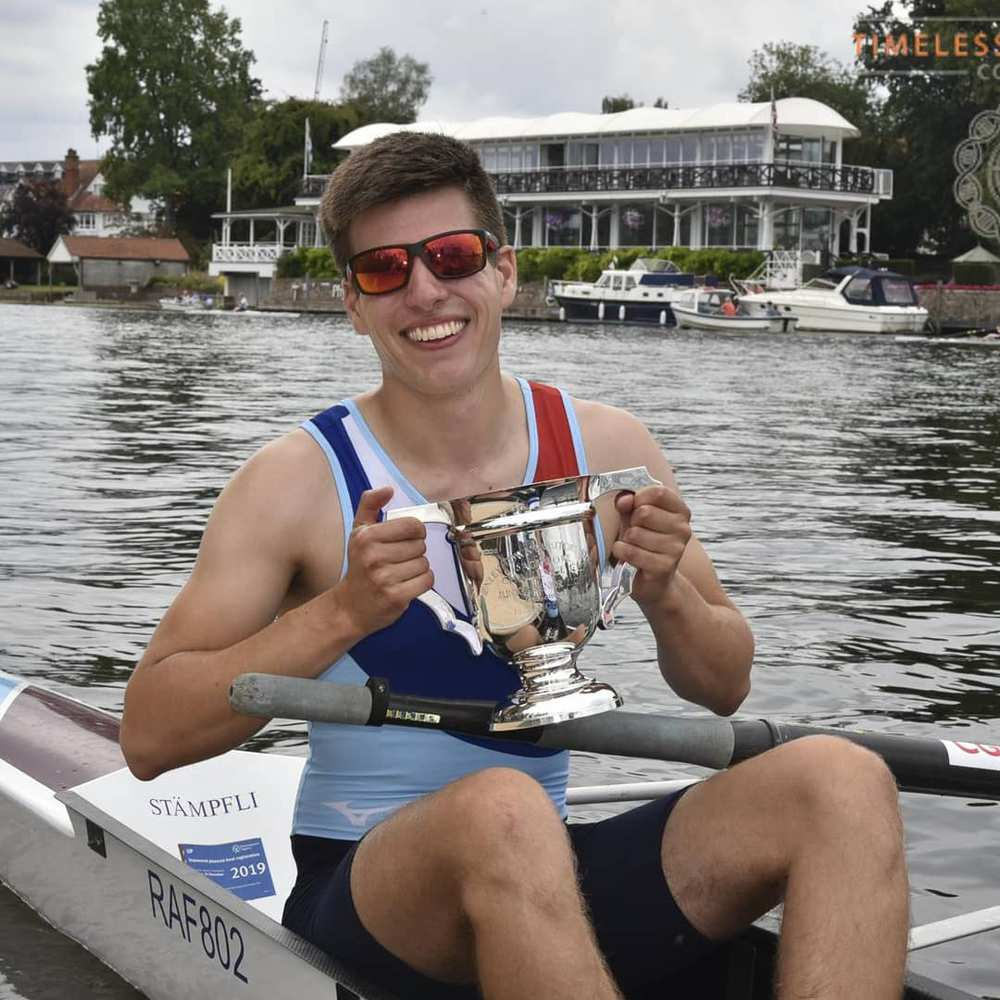 Ollie Banks. Survived a breast tumour, and now back to rowing.