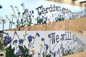 Swansea Bay health board hoardings art - Covid-19