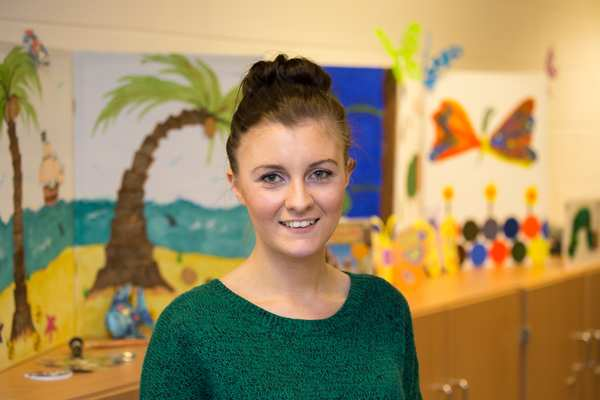 """""""I love it here. You develop such a strong bond with the children, and you can see what you are doing paying off,"""" Hannah, a recent MSc Behaviour Analysis and Therapy graduate, on placement at the clinic to complete her 1000 hours of supervised practice."""