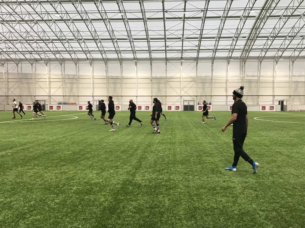Barbarians rugby training