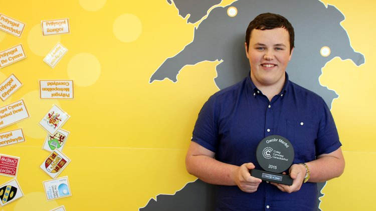 Trystan - Coleg Cymraeg Award