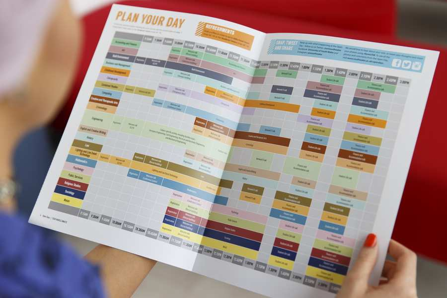Open day programme 2016