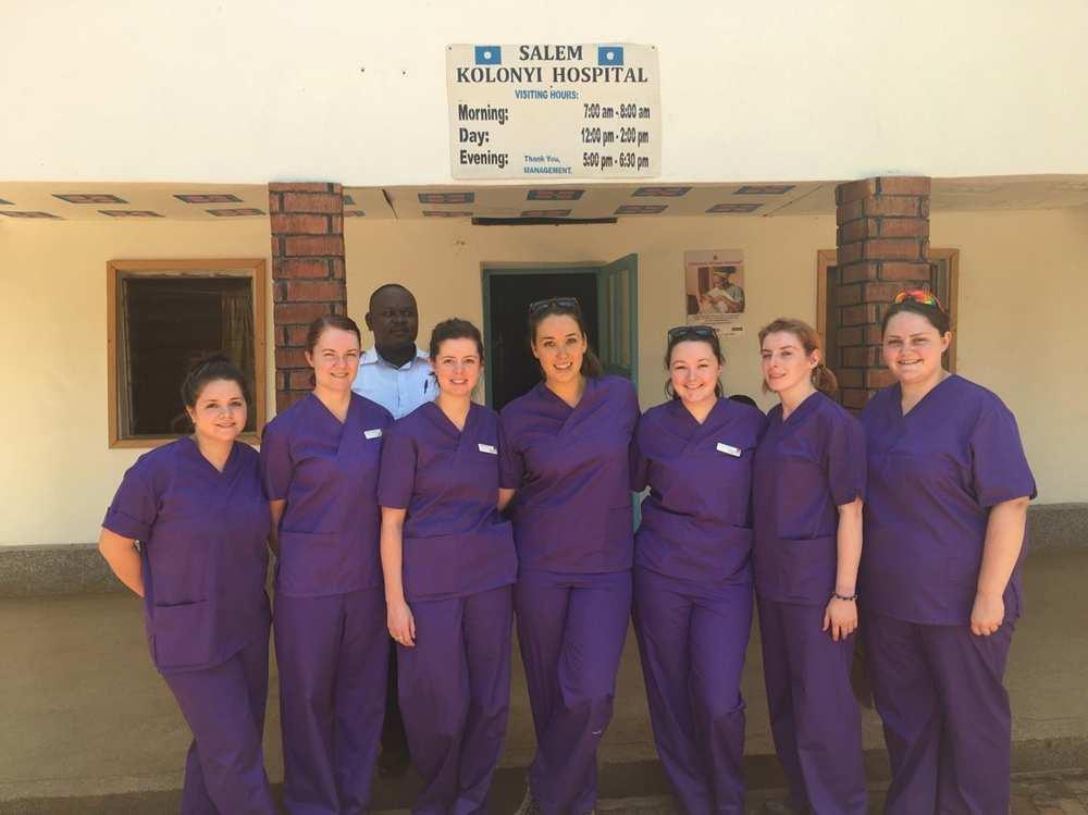 BA Hons Adult Nursing students who went to Uganda. Neil Gibson. February 2017