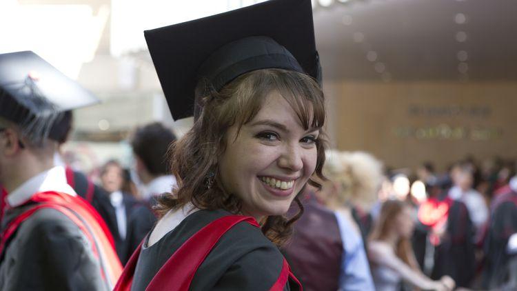 Girl at graduation large