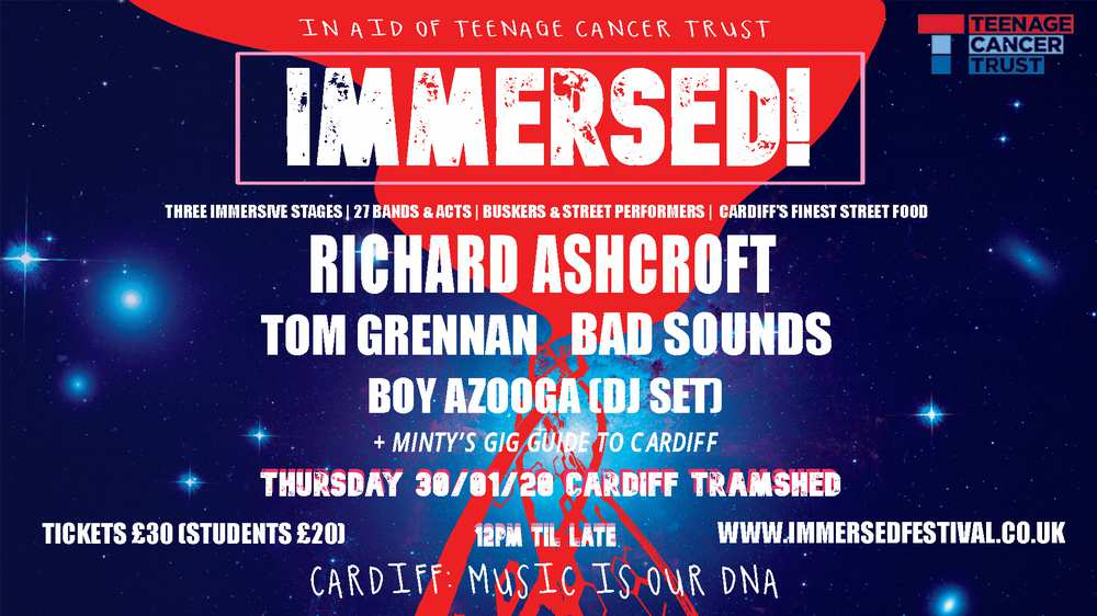 Immersed Festival Advert - Jan 2020, digital screens artwork
